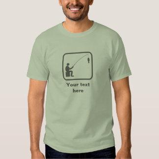 Angler / Fisherman -- Grey Logo -- Customizable T Shirts