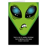 Angry Aliens Birthday Greeting Card