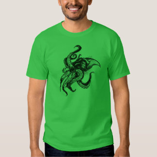 Angry Giant Squid in Black Tshirt