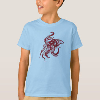 Angry Giant Squid in Red Tshirt