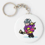 Angry girl player basic round button key ring