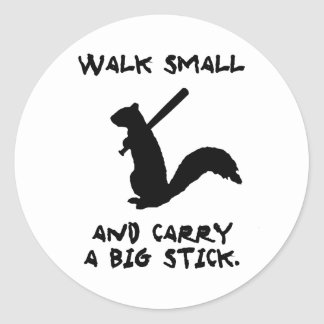 Angry Squirrel: Environment Protector Round Sticker