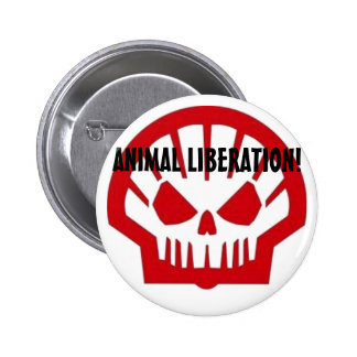 Animal Liberation! 6 Cm Round Badge