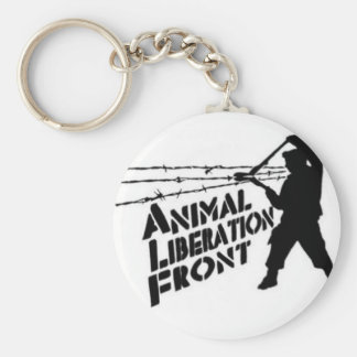 Animal Liberation Front Basic Round Button Key Ring