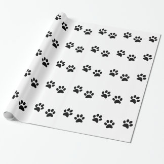 Animal Paw Print Pattern Wrapping Paper