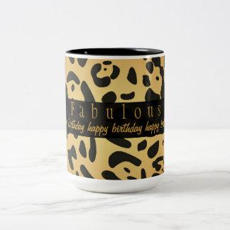 Animal Print Happy 50th Birthday Mug