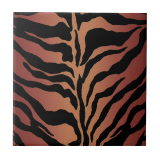 Animal Print Tiger Striped Home Decor Small Square Tile