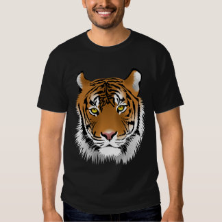 Animated Tigers Face Tshirt