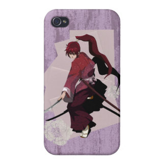 Anime Samurai - Rusty Pink iPhone 4 Cases