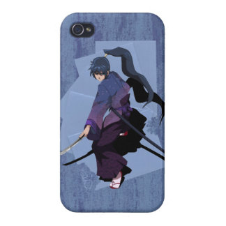 Anime Samurai - Slate Blue Case For iPhone 4