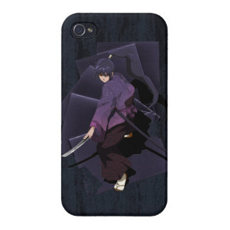 Anime Samurai - Violet Ebony Cover For iPhone 4