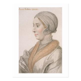 Anne Boleyn (1507-36) engraved by Francesco Bartol Postcard