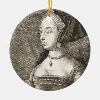 Anne Boleyn Round Ceramic Decoration