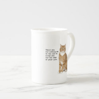 Annoying Cat Mug Bone China Mug