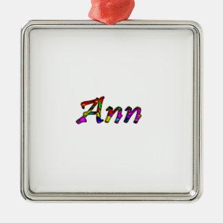 Ann's Silver-Colored Square Decoration