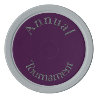 Annual Tournament-Stone-Colored Text Poker Chips