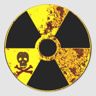 ANTI-NUCLEAR ENERGY PROTEST ROUND STICKER