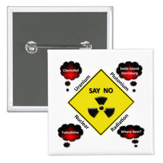 Anti Nuclear Power Logo 15 Cm Square Badge
