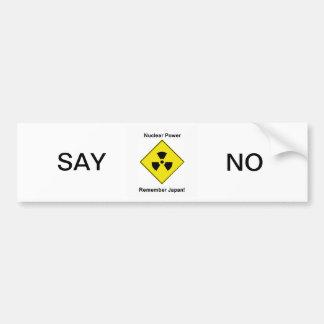 Anti Nuclear Power Logo Bumper Sticker