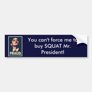 Anti-Obam Hell-Care Bumper Sticker