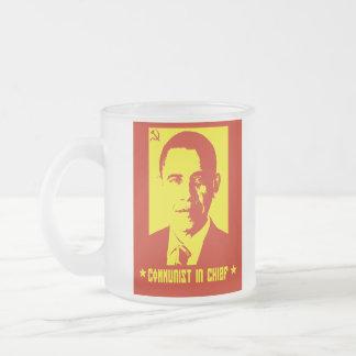 Anti Obama Frosted Glass Mug