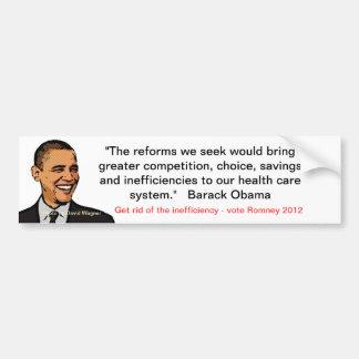 Anti-obama/healthcare Bumper Sticker