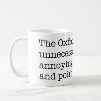 Anti-Oxford Comma Basic White Mug