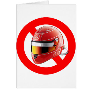 Anti Schumacher Girl Shirt with Logo Greeting Card