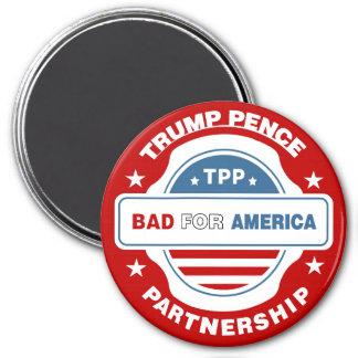 anti-TPP 7.5 Cm Round Magnet