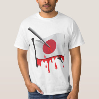 anti-whaling statement harpoon flag tshirt