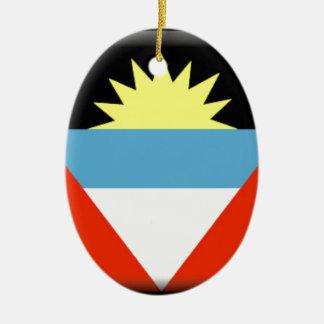 Antigua and Barbuda Flag Ceramic Oval Decoration