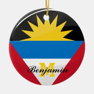 Antigua and Barbuda Glossy Round Flag Round Ceramic Decoration