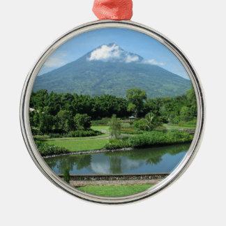 Antigua Guatemala Silver-Colored Round Decoration