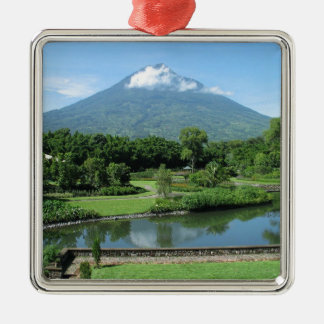 Antigua Guatemala Silver-Colored Square Decoration