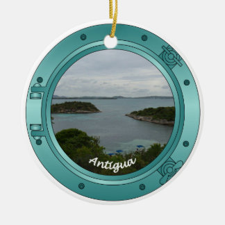 Antigua Porthole Round Ceramic Decoration