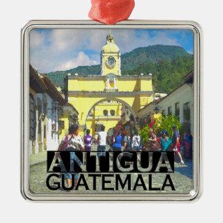 Antigua Silver-Colored Square Decoration