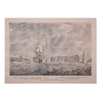 Antique 1760s Engraving off Bored Rock'n'roll, Que Poster