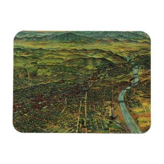 Antique Aerial Map of Los Angeles, California Rectangular Photo Magnet