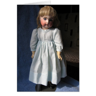 Antique Bisque Doll Greeting Card - Blank