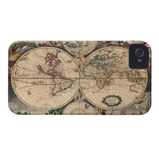 Antique Danckerts Old World Map Blackberry Case