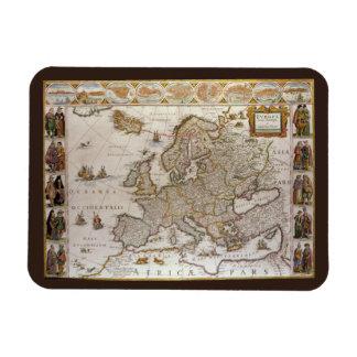 Antique Map of Europe, c1617 by Willem Jansz Blaeu Rectangular Photo Magnet