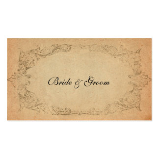 Antique Oval Parchment Place Cards Pack Of Standard Business Cards