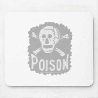 Antique Poison Label Transparency Mouse Pad
