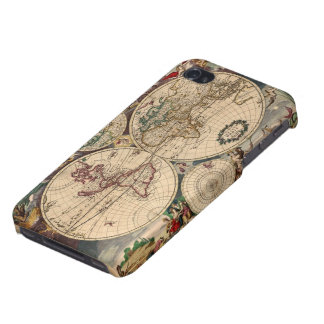 Antique Vintage Old World Map iPhone 4 Savvy Case iPhone 4/4S Case