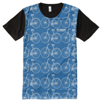 Antique White Bicycle Vintage Bike Two Wheels All-Over Print T-Shirt