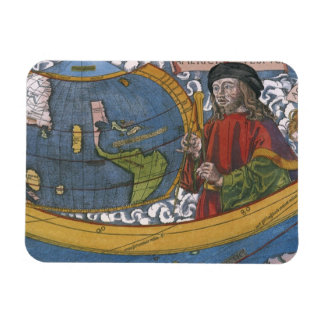 Antique World Map; Amerigo Vespucci Rectangular Photo Magnet