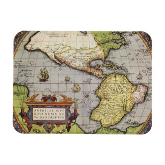 Antique World Map of the Americas, 1570 Rectangular Photo Magnet
