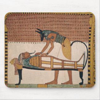 Anubis attends Sennedjem's Mummy Mouse Pad