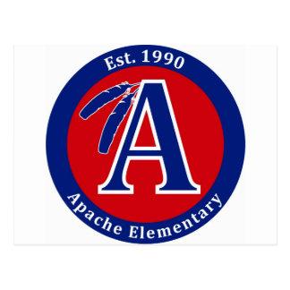 Apache Warrior Elementary School Products Postcard
