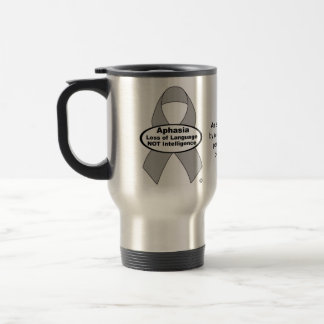 Aphasia Awareness Silver Ribbon Product Stainless Steel Travel Mug